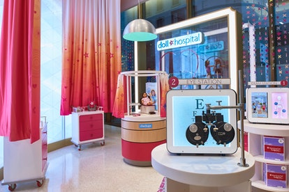 The American Girl Doll Hospital offers eye exams, dental check-ups, and even X-rays for beloved Amer...