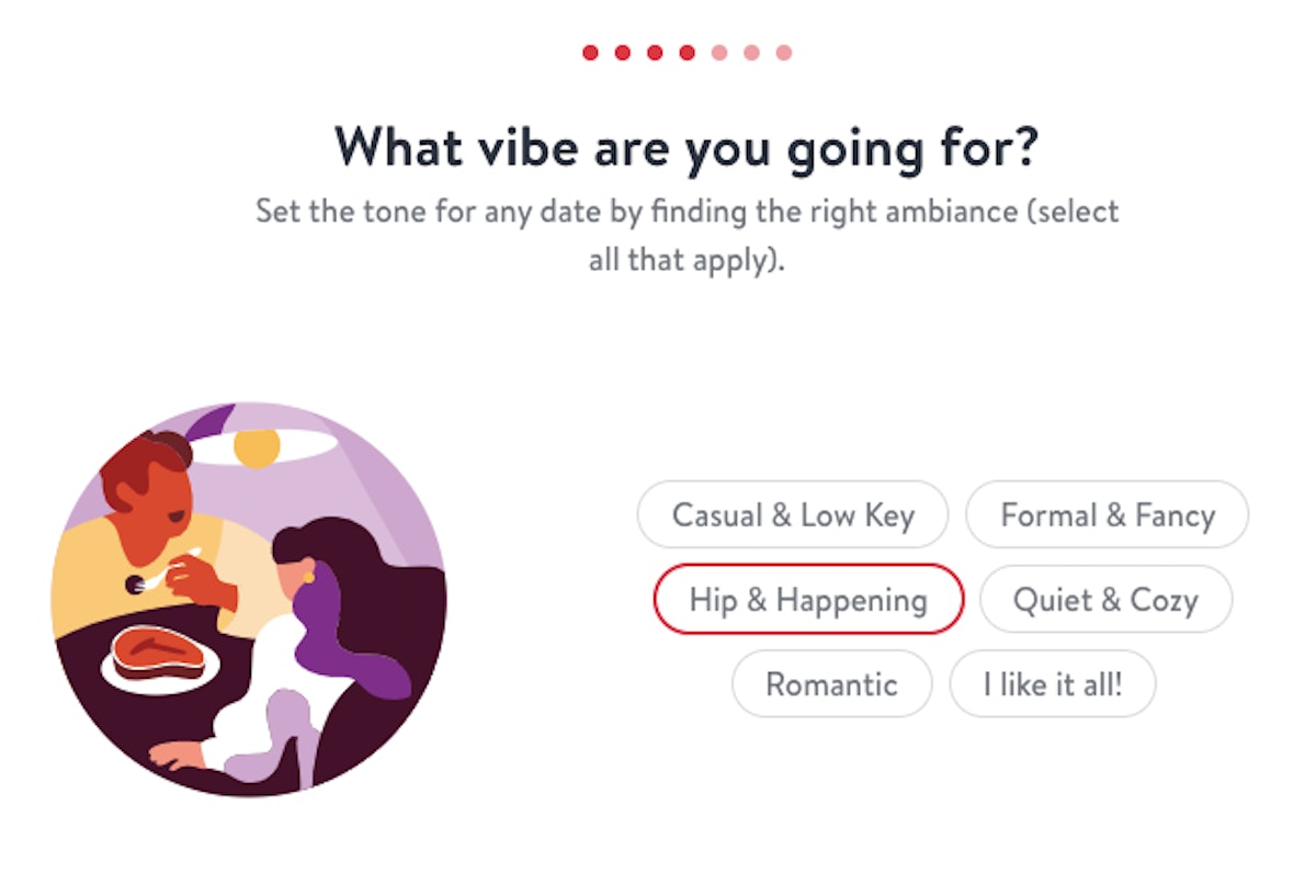 Hinge and OpenTable's Date Night guide will do the planning for you.
