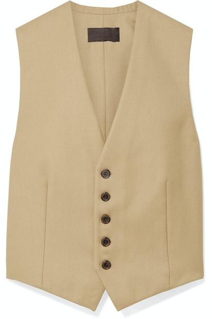Angelina Wool-Blend Vest