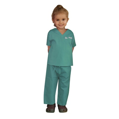 Scoots Personalized Kids Doctor Scrubs