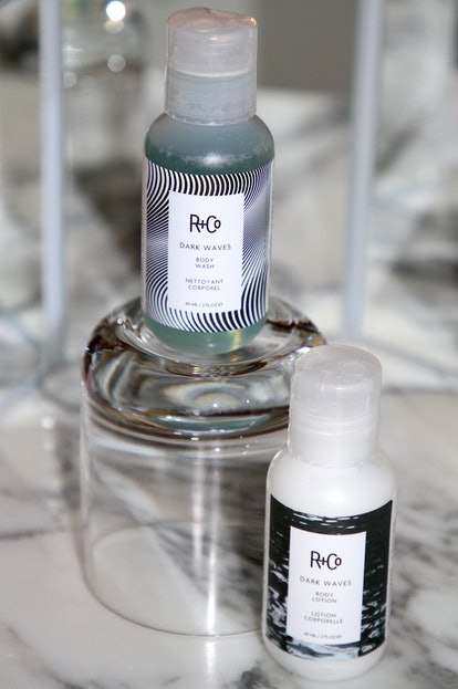 R+Co's new DARK WAVES Body Wash and Lotion