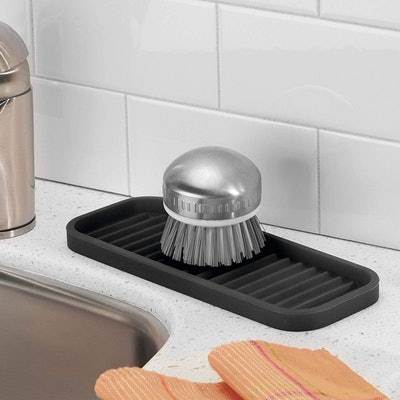 iDesign Lineo Silicone Kitchen Sink Tray