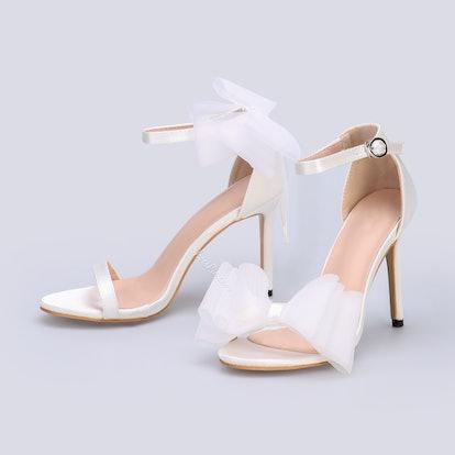 Bow High Heel Buckle Sandals
