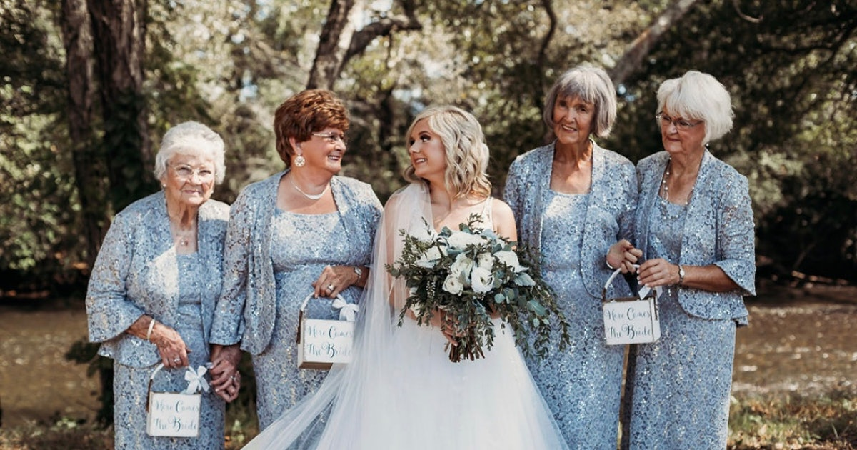Bride Includes 4 Grandmothers As Flower Girls & The Photos Are So Sweet