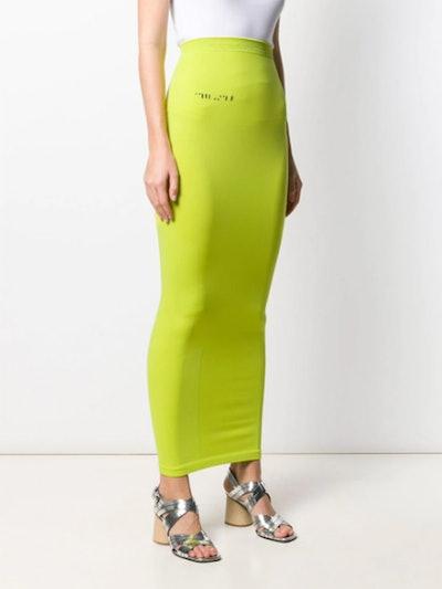 Logo Print Column Skirt
