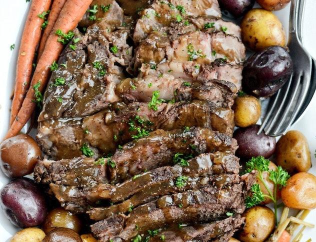 balsamic dijon pot roast instant pot recipe
