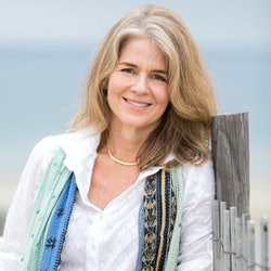 Adrienne Brodeur, author of 'Wild Game,' poses in Cape Cod, the setting of much of her memoir.