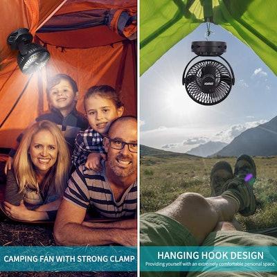 Jomst Portable Camping Fan LED Lantern