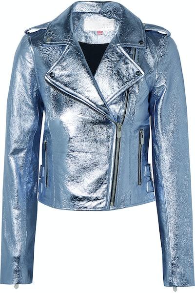 The Lecce Metallic Leather Biker Jacket