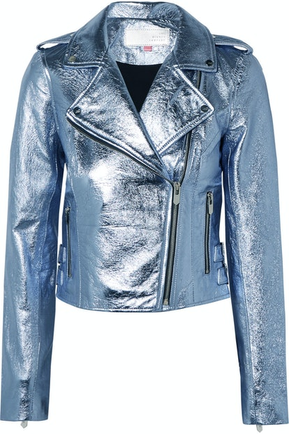 The Lecce Metallic Leather Biker Jacket