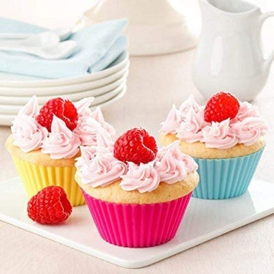 Silicone Cupcake Muffin Baking Cups Liners (36-Pack)