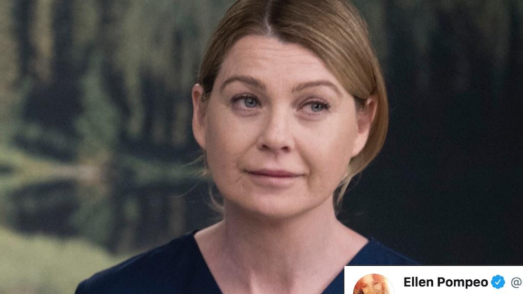 Meredith Grey from Grey's Anatomy with Ellen Pompeo tweet