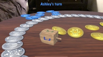 Go ahead and spin the dreidel with the Dreidel ARena app.