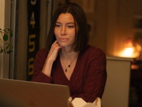 Jessica Biel stars as Lia Haddock in 'Limetown' on Facebook Watch.