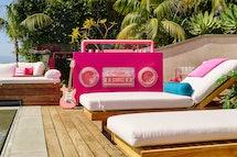 pool lounging are at barbie malibu dream house