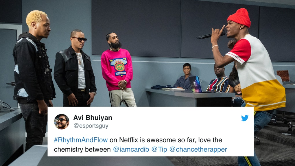 Rhythm and Flow on Netflix with positive tweet