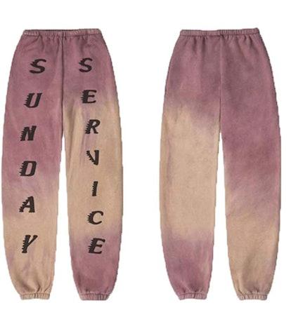 Kanye West Sunday Service Printed Jogging Pants