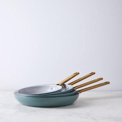 """Food52 X Greenpan Nonstick Skillet Set Of 8"""" & 11"""" Pans"""