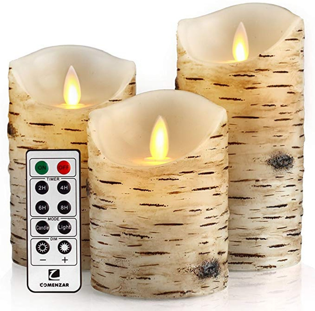 Comenzar Flickering Candles (Set of 3)