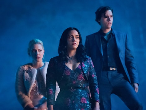 Betty, Veronica, and Archie in Riverdale Season 4.