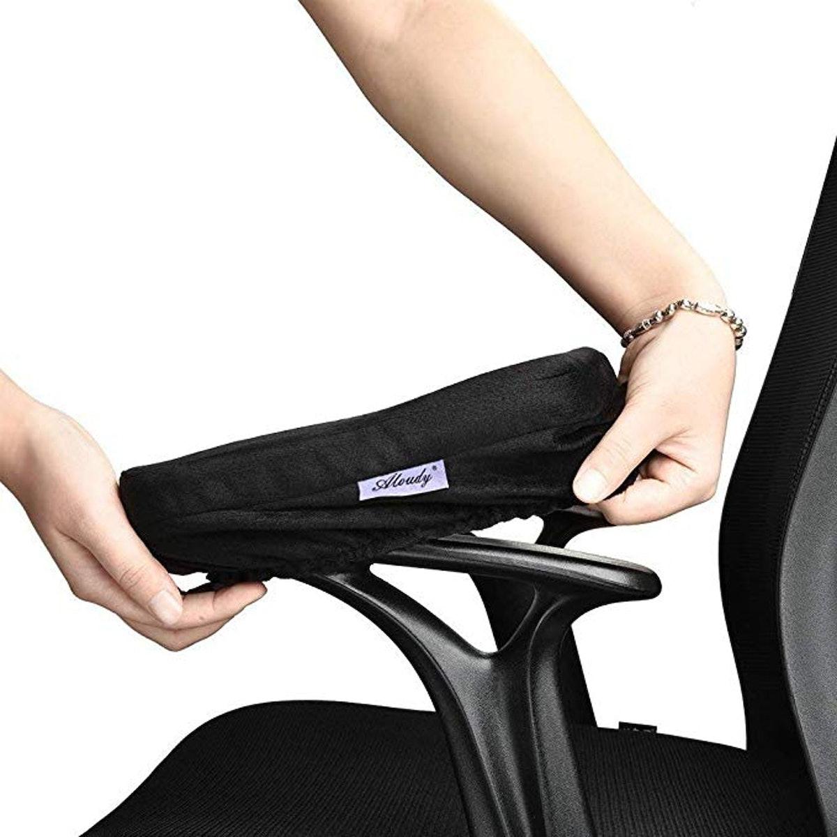 Aloudy Ergonomic Memory Foam Office Chair Armrest Pads