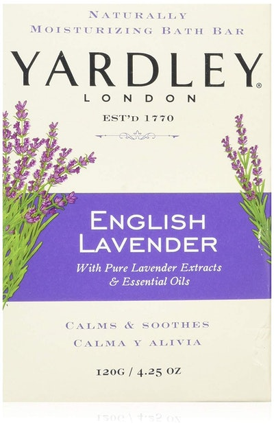 Yardley London English Lavender With Essential Oils Soap Bar (8-Pack)