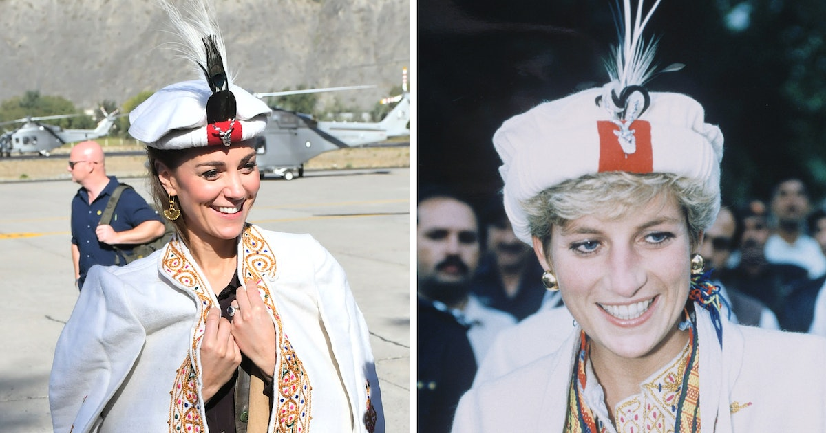 Kate Middleton & Princess Diana Both Wore This Traditional Headwear During Their Visits To Pakistan
