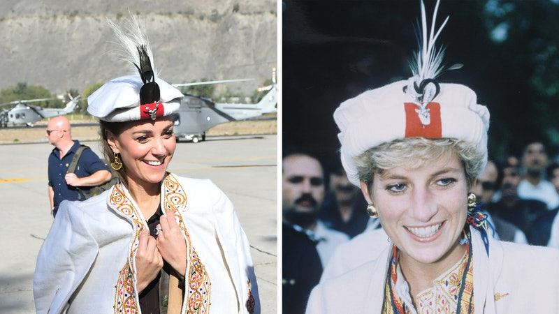 Kate Middleton and Princess Diana both wore a traditional Chitrali hat on royal visits to Pakistan