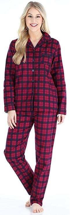 PajamaGram Cotton Button-Front Mens Pajamas