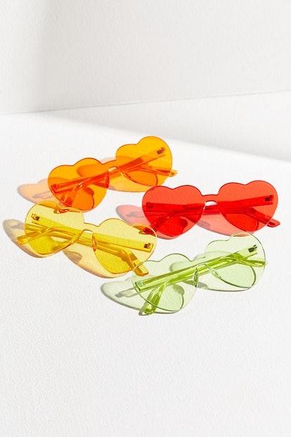 Heartbeat Mono-Cut Heart Sunglasses