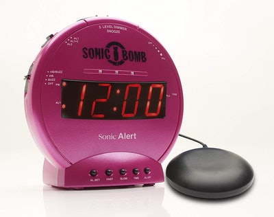 Sonic Alert Sonic Bomb Loud Dual Alarm Clock