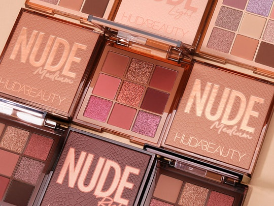 Huda Beauty's NUDE Obsessions Eyeshadow Palettes in Light, Medium, and Rich