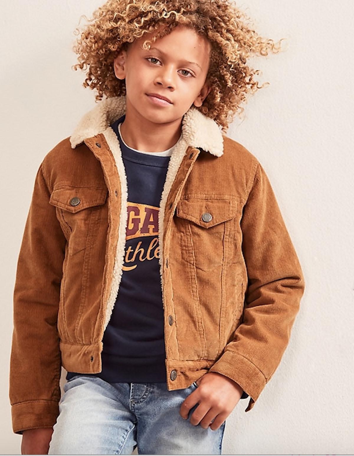 Kids Sherpa-Lined Cord Jacket