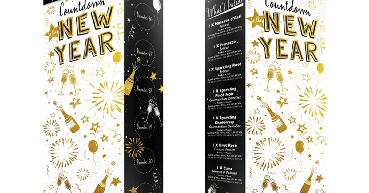 Aldi's 2020 New Year's Countdown Calendar Has 7 Bottles Of Sparkling Wine