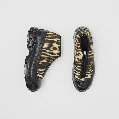 Leopard Print Nylon Arthur Sneakers