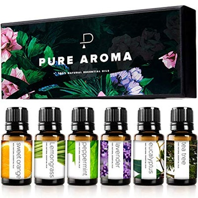 PURE AROMA 100% Pure Essential Oils (Set of 6)