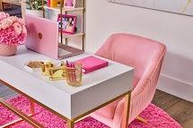 Closet up of desk at barbie malibu dream house