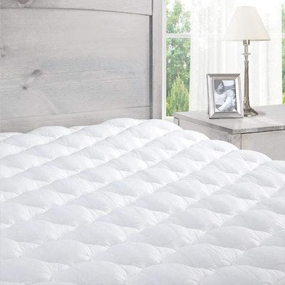 eLuxury Pillow-Top Mattress Pad, Queen Size
