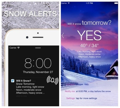 "The ""Will It Snow?"" app tells you when it's going to snow, so know whether to plan for a white Christmas or not."