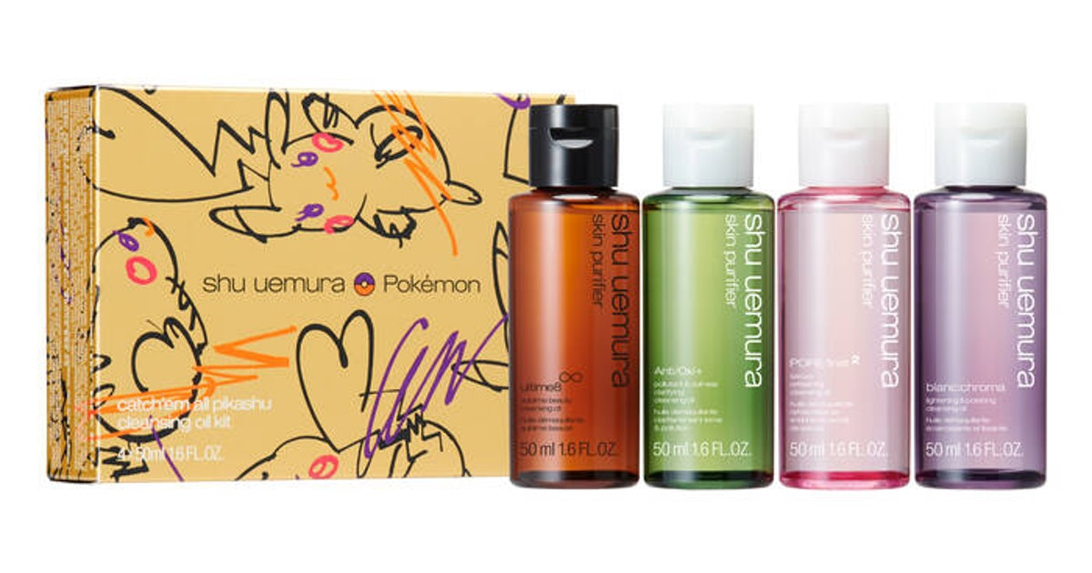 The Pokémon x Shu Uemura Art Of Hair & Makeup Collections Feature Pikachu In Gold