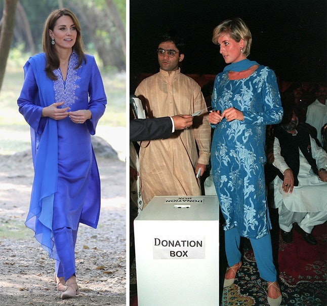 Kate Middleton's Maheen Khan outfit is similar to Diana's 1997 Pakistan visit look