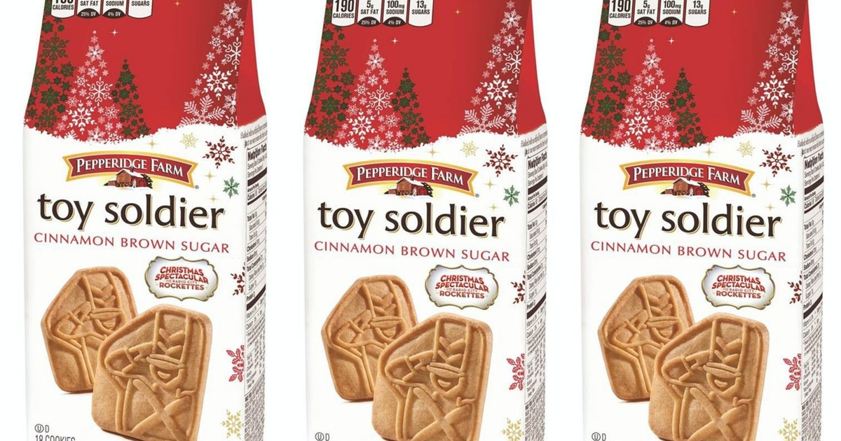 Pepperidge Farm's New Toy Soldier Cookie Is A Cinnamon Dream