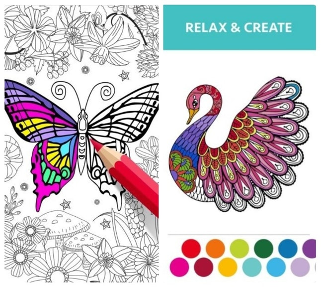 Unwind when you're feeling that holiday stress with the Coloring Book For Adults apps.