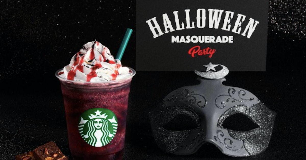 Starbucks Japan's Dark Night Frappuccino Looks Totally Bloody