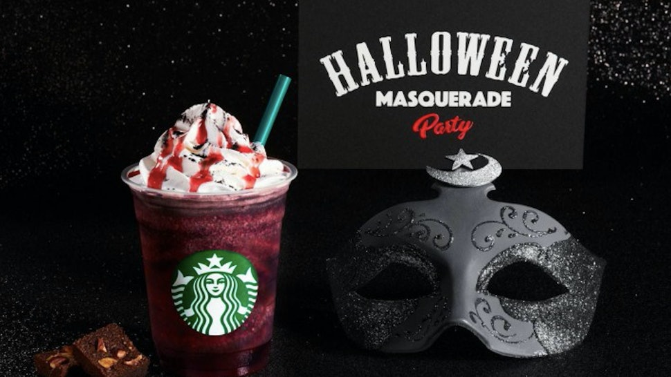 The Halloween Dark Night Frappuccino is part of a trio of Halloween drinks from Starbucks Japan.