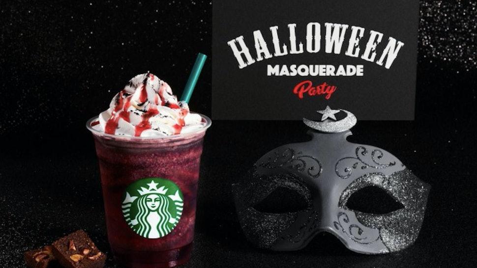 Starbucks Japan S Dark Night Frappuccino Looks Totally Bloody