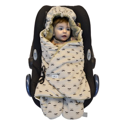 JANABEBE Swaddling Wrap, Car Seat and Pram Blanket Universal for Infant and Child car Seats