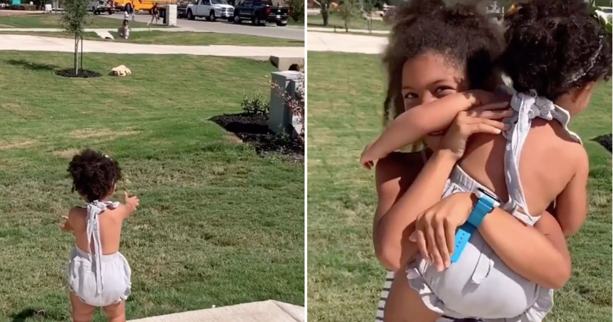 Toddler Greeting Big Sis After School In Viral Video Is Peak Sibling Love