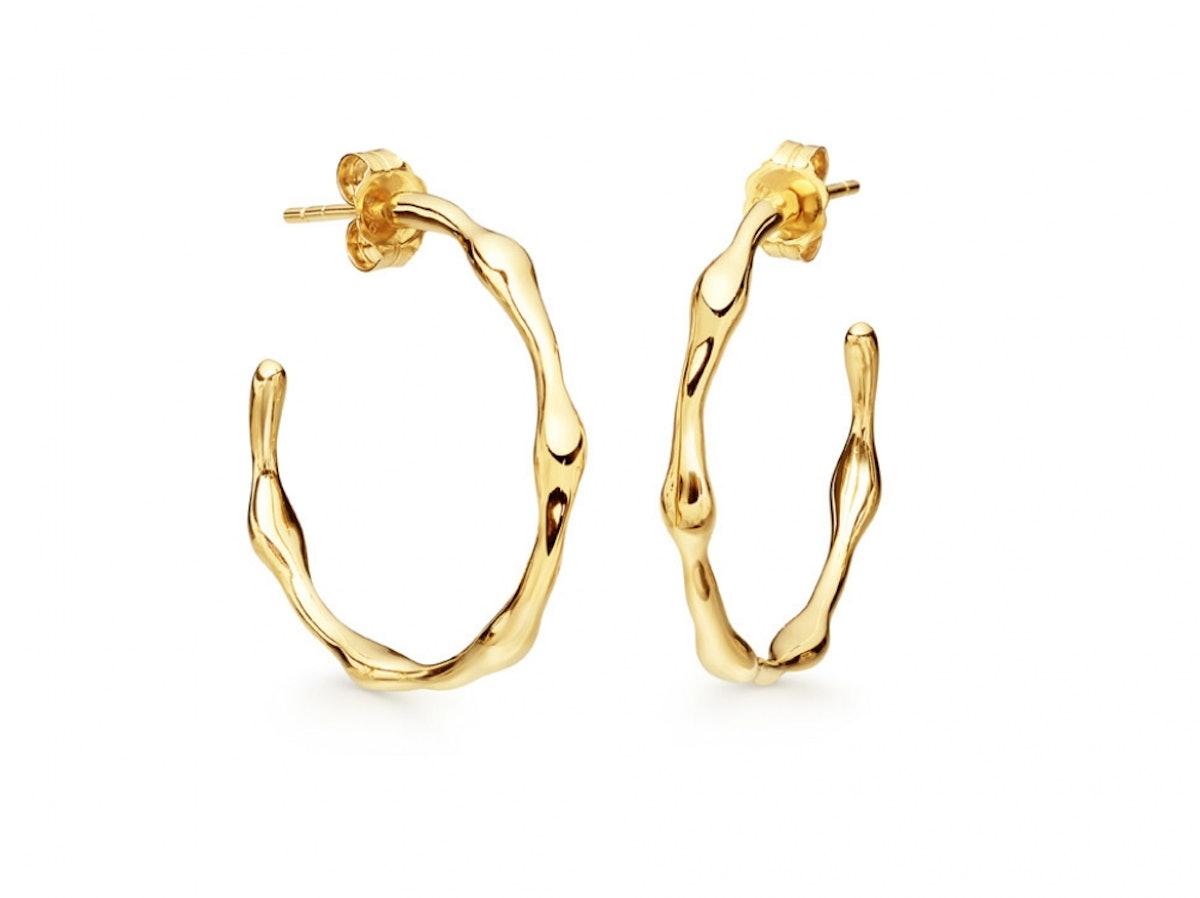 Gold Medium Molten Hoops