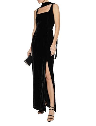 Romy velvet maxi dress
